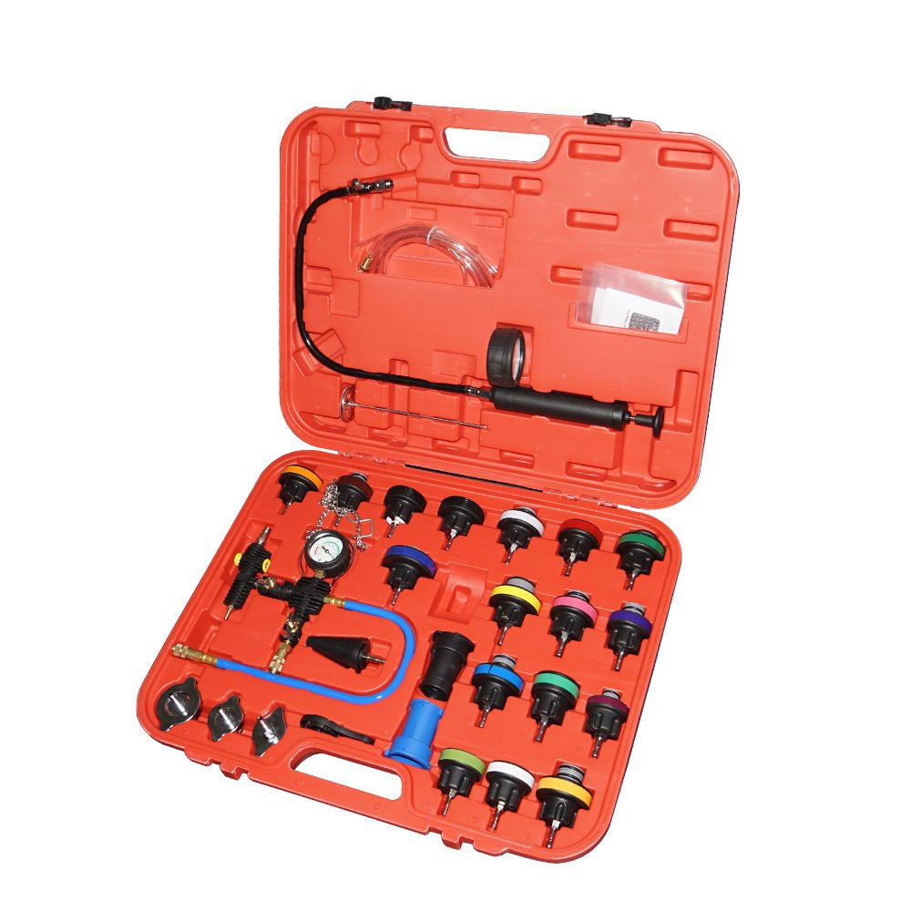 OBLLER Radiator Pressure Coolant Cooling Temperature System Tester Kit With Case 28pc