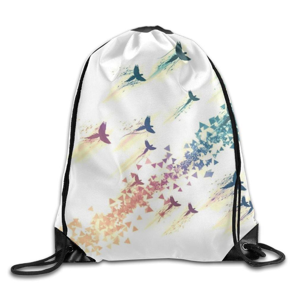 Birds Drawstring Backpack Rucksack Shoulder Bags Training Gym Sack For Man And Women