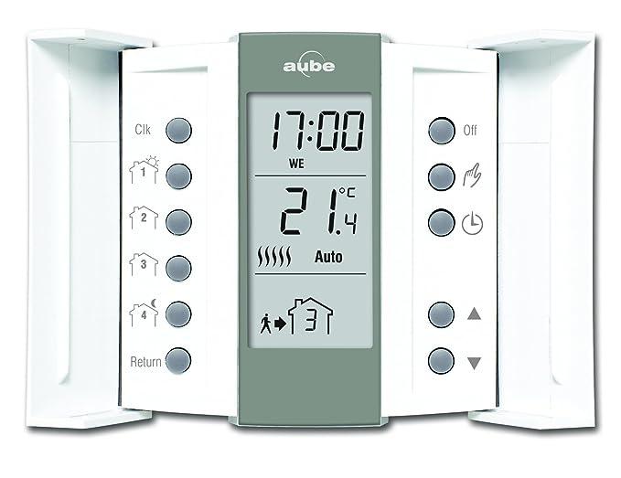 Aube TH136 - Termostato programable, color crema y gris: Amazon.es: Bricolaje y herramientas