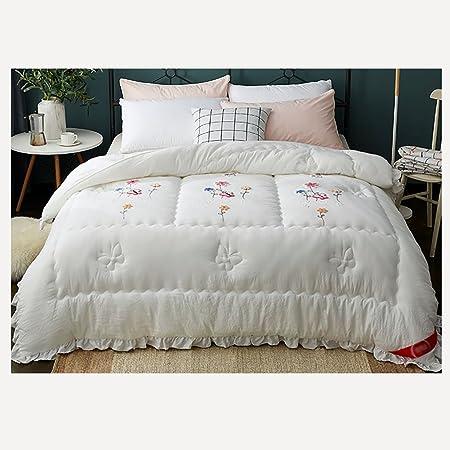 Colchas gruesas blancas Four Seasons doble ropa de cama de 200 * 230 cm: Amazon.es: Hogar