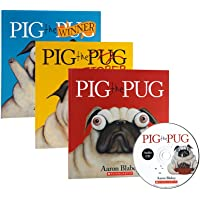 Pig The Pug系列3册+1CD 英文原版 Pig the Fibber/Winner 品格教育绘本 畅销 轻松幽默 学会分享 为人处事哲学 Scholastic学乐出版 带光盘 [平装] [Jan 01, 2017] Aaron Blabey [平装] [Jan 01, 2017] [平装] [Jan 01, 2017] [平装] [Jan 01, 2017] [平装]