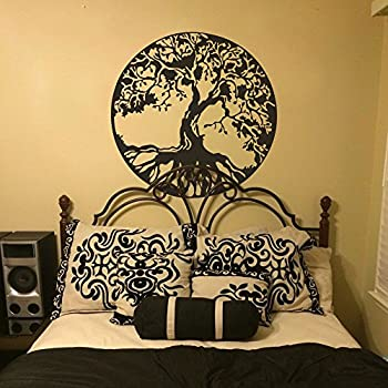 MairGwall Nature Decor Tree Wall Decal Ancient Celtic Tree Of Life Wall  Graphics Bedroom Vinyl( Part 53