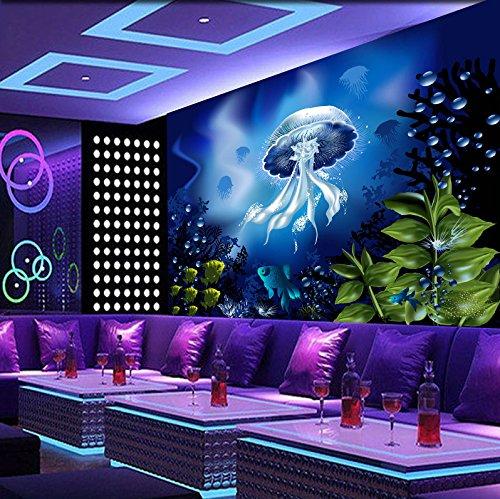 - 3D Fantasy Ocean Jellyfish 7 Wall Paper Wall Print Decal Wall Deco Indoor wall Murals Removable Wall Mural | Self-adhesive Large Wallpaper , AJ WALLPAPER Carly (39