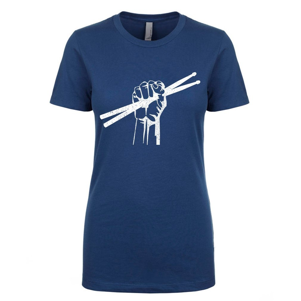 Mad Over Shirts Drummer Drum Sticks Rock Symbol Premium T Shirt 9253
