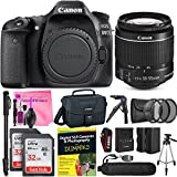 Canon EOS 80D DSLR Camera Advanced Photo and Travel Bundle + Canon EF-S 18-55mm f3.5-5.6 IS II Lens + Camera Works Starter Kit