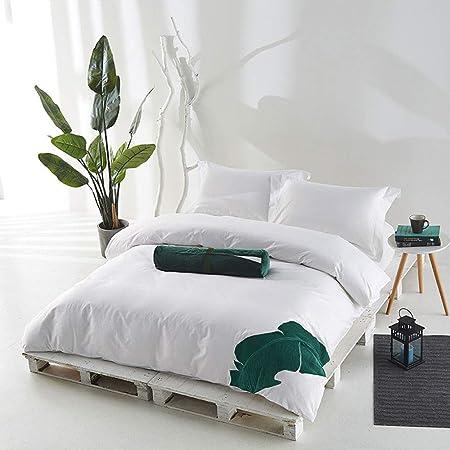 Ropa de cama de estilo asiático del sudeste Ropa de cama Algodón Satén de cuatro piezas Conjunto de cuarteto Temporadas Salud universal sin formaldehído Funda de almohada cómoda impresa sábanas famili: Amazon.es: