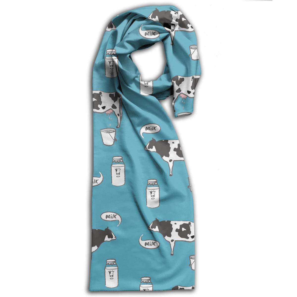 TDynasty Milk Cow Warm Shawls Scarves Printing Lightweight Scarf Shawl Winter Scarf Warm Soft Multi-Purpose for Adult Women Gifts
