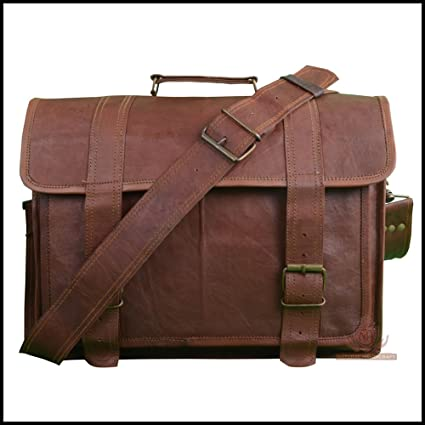 ac915464978e Amazon.com: Laptop Messenger Satchel Shoulder Bag Briefcase Handmade ...