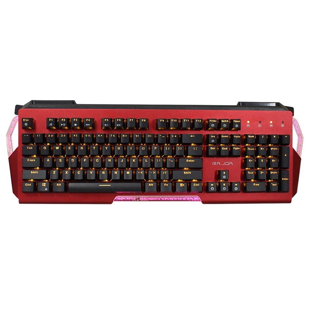 BOBIDYEE メカニカルキーボードブルースイッチゴースト防止キーレッドキーボードキーボードカミソリ (色 : レッド) B07QMCBVSS レッド