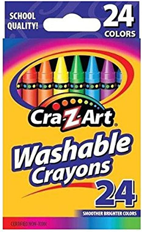 Cra-Z-Art Washable Crayons, 24 Count