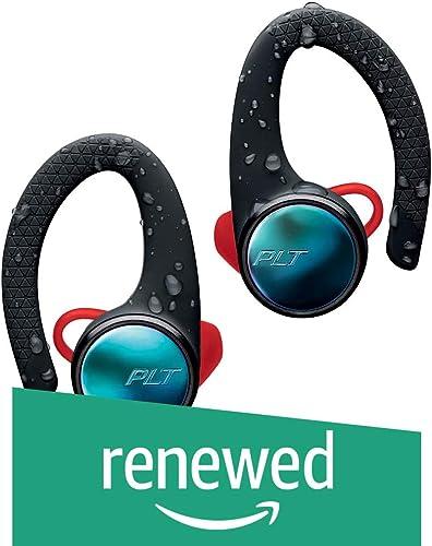 Plantronics BackBeat FIT 3100 True Wireless Earbuds, Sweatproof and Waterproof in Ear Workout Headphones, Black Renewed