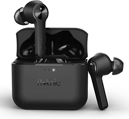 Amazon Com Wireless Earbuds Iteknic Bluetooth 5 0 Wireless Earphones Tws Bluetooth Headphones In Ear Built In Mic Headset With Smart Touch Control 3d Stereo 40 Hours Playtime For Iphone And Android Home Audio Theater