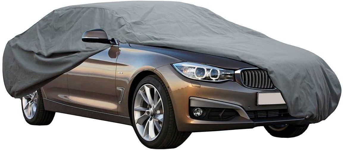 Cover+ Funda Exterior Premium para Audi A4 DE 2012, Impermeable, Doble Capa sintética y de Finas trazas de algodón por el Interior, Transpirable para Evitar la condensación en el Parabrisas.