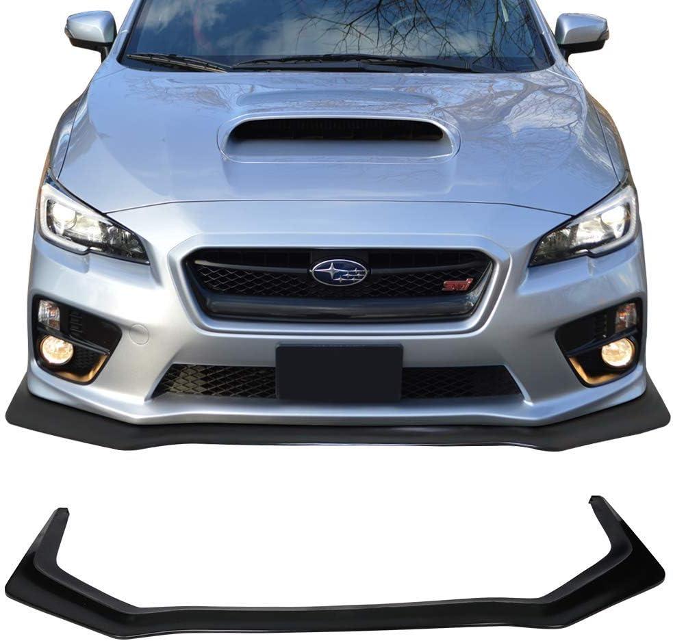 Front Bumper Lip Compatible With 15-19 Subaru WRX STI IKON V6 Style Unpainted PU by IKON MOTORSPRTS
