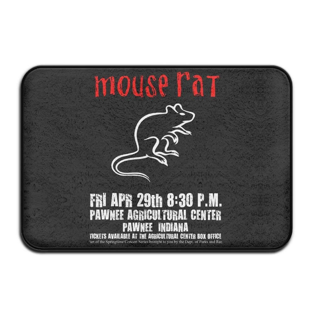 Highest Quality Materials Bath Mat Parks and Recreation Mouse Rat Circle Washable Bath Mats by loserduck