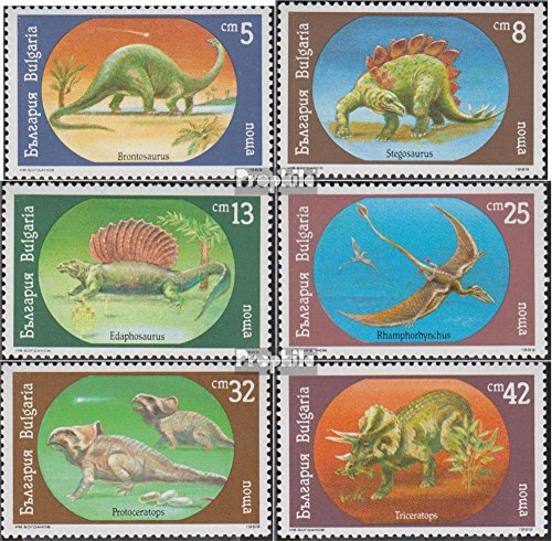 Bulgaria 3840-3845 (Complete.Issue.) 1990 Prehistoric Animals (Stamps for Collectors) Amphibians/Reptiles/Dinosaurs