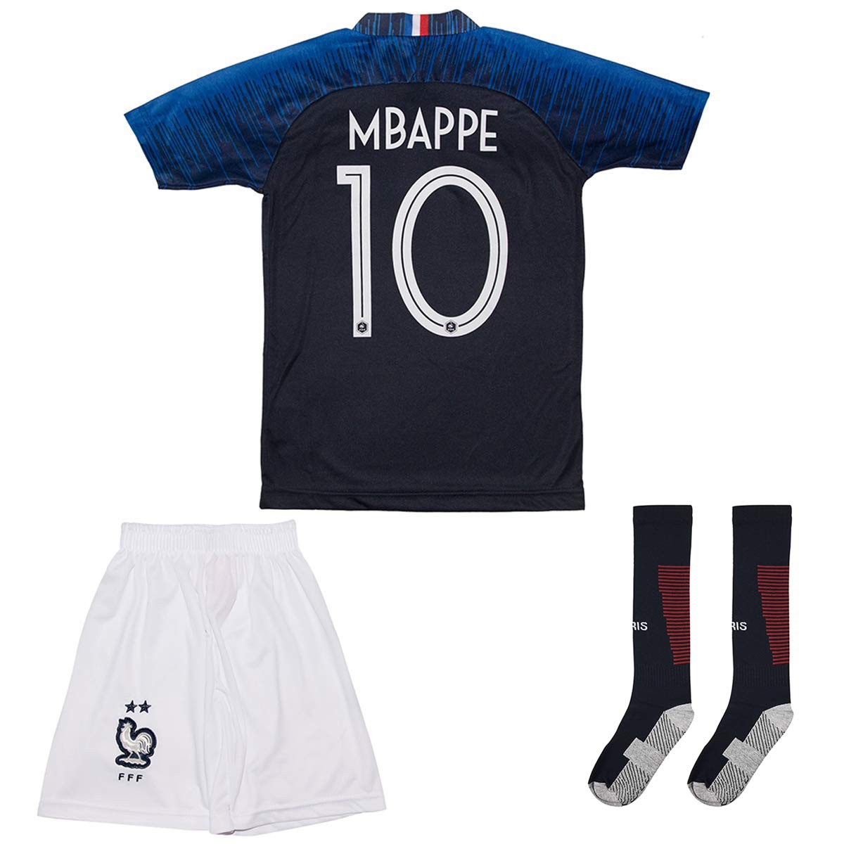 4f79e41b7fb France Mbappe Jersey  10 Away 18 19 - Football Kits Soccer Shirt For Kids  Boys Children Youth  Amazon.co.uk  Sports   Outdoors