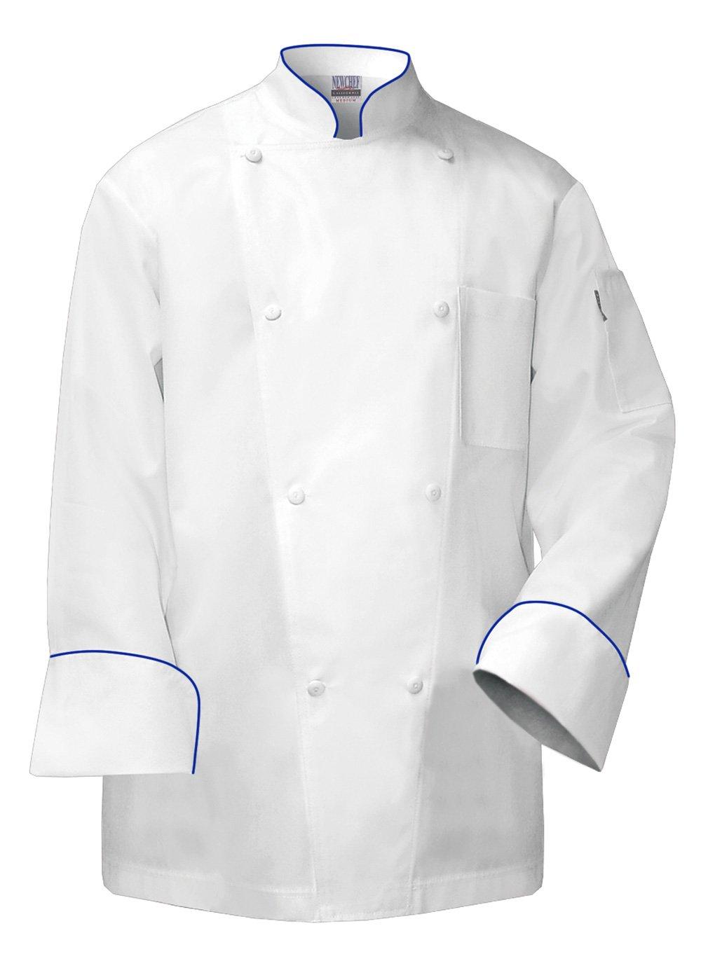 Newchef Fashion Regent Men's Chef Coat White Chef Jacket 2XL White