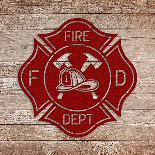 """SIZE FIRE DEPARTMENT DEPUTY CHIEF Wall  Sign 6/"""" x 12/"""" MALTESE CROSS"""