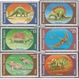 Bulgaria 3840-3845 (Complete.Issue.) 1990 Prehistoric Animals (Stamps for Collectors) Amphibians / Reptiles / Dinosaurs