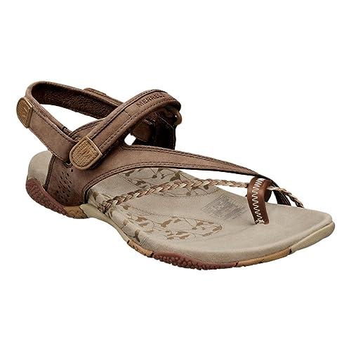 0a8d50b64 Merrell Siena Light Brown Flat Women Sandals