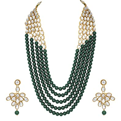 Modest 18k Goldplated Indian Necklace Set Women Traditional Party Bollywood Jewellery Jewelry & Watches Engagement & Wedding