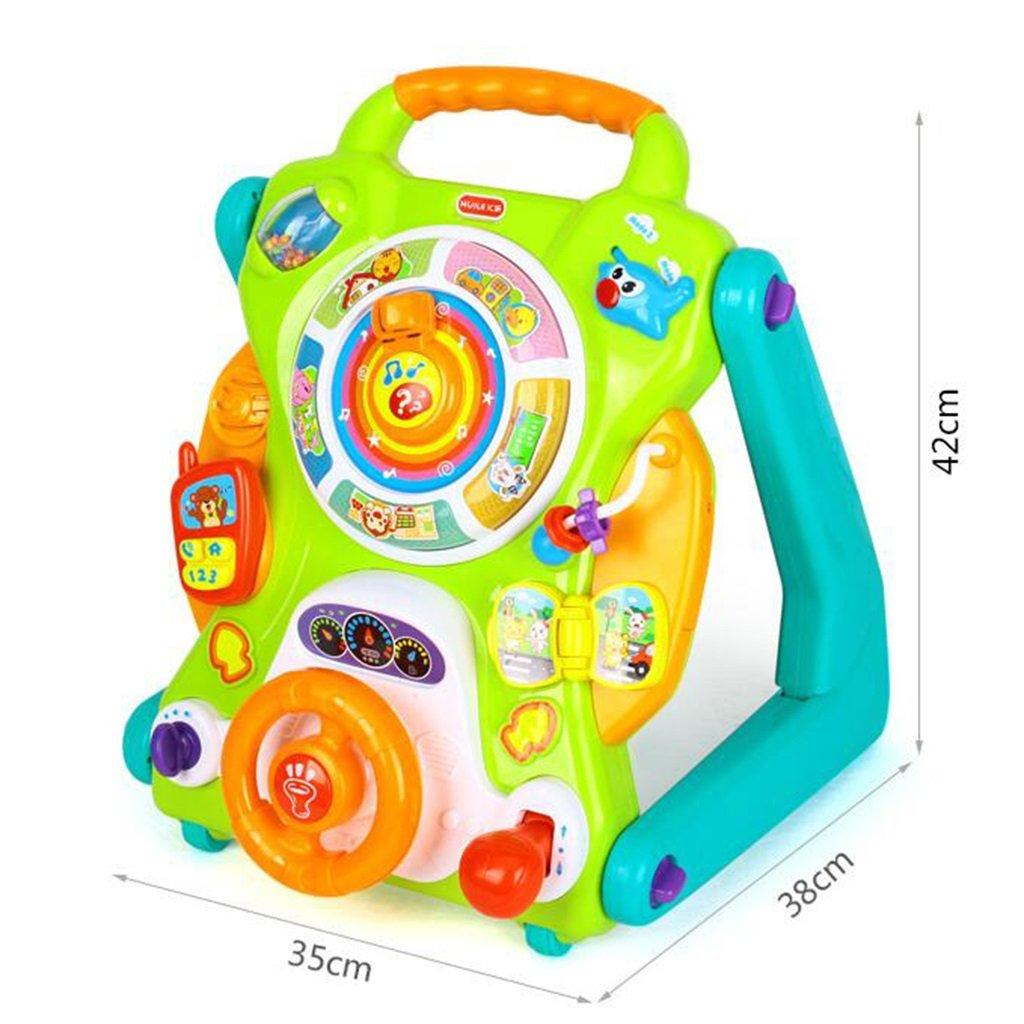 Kinderfahrräder HAIZHEN Kinderwagen Abs Multifunktion Lauflernhilfe Spielzeug Kind Wagen 7-18 Monate Jungen Mädchen Gehhilfe 35  38  42 cm Für Neugeborene