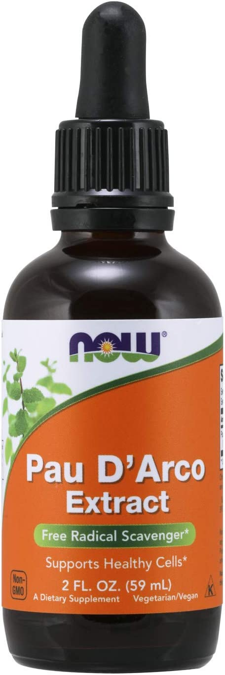 NOW Supplements, Pau D'Arco Extract Liquid with Dropper, Free Radical Scavenger*, 2-Ounce