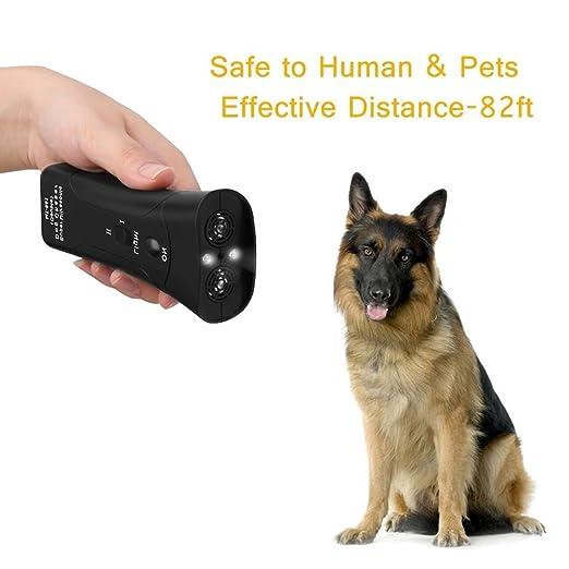 PanDaDa Dog Repellent Ultraschall Handheld Hund Rinde Deterrent Hund Trainingsger/ät Powered und wetterfest Ultraschall f/ür Hund und Katzen