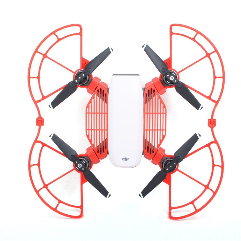 XmiPbs Drone Accessories Kit Finger Guard /& Quick-Release Propeller Guards Protectors /& Landing Gear Skid Height Extender for DJI Spark Quadcopter Parbeson