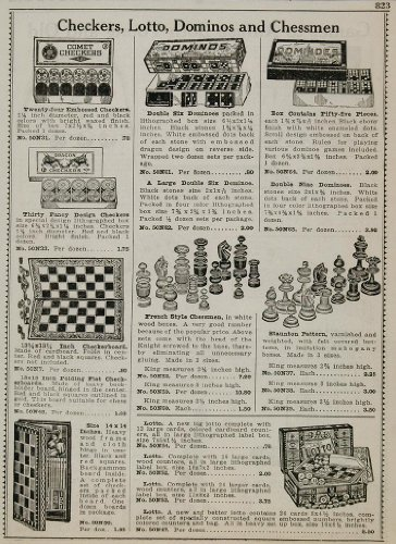 1934 Ad Checkers Lotto Dominos Chessmen Board Games - Original Print Ad