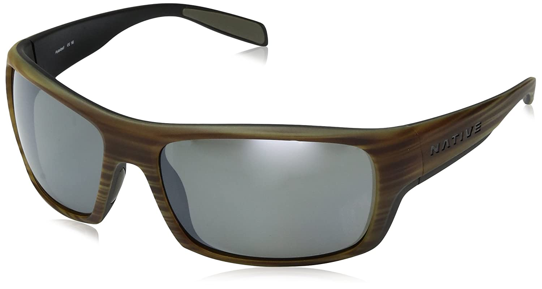 Native Eyewear 2017 Eddyline交換可能な偏光レンズサングラス – 木製フレーム/シルバーレフレンズ – 184 903 528 B01MTLFIZ3, 自由が丘ange passe 9addd06a