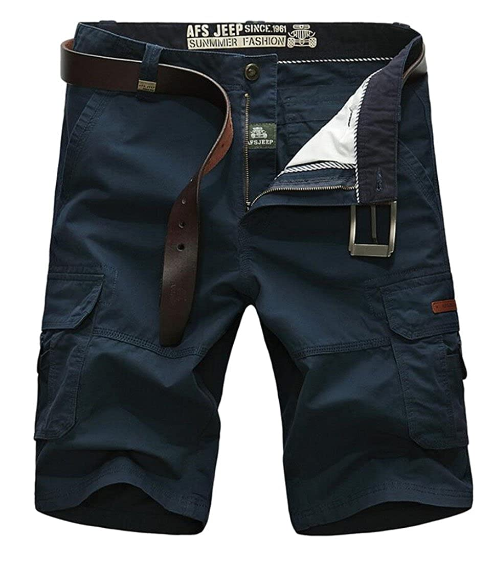 Gocgt Men's Military Cargo Shorts Pants Work Pants Short Army Trouser Pants