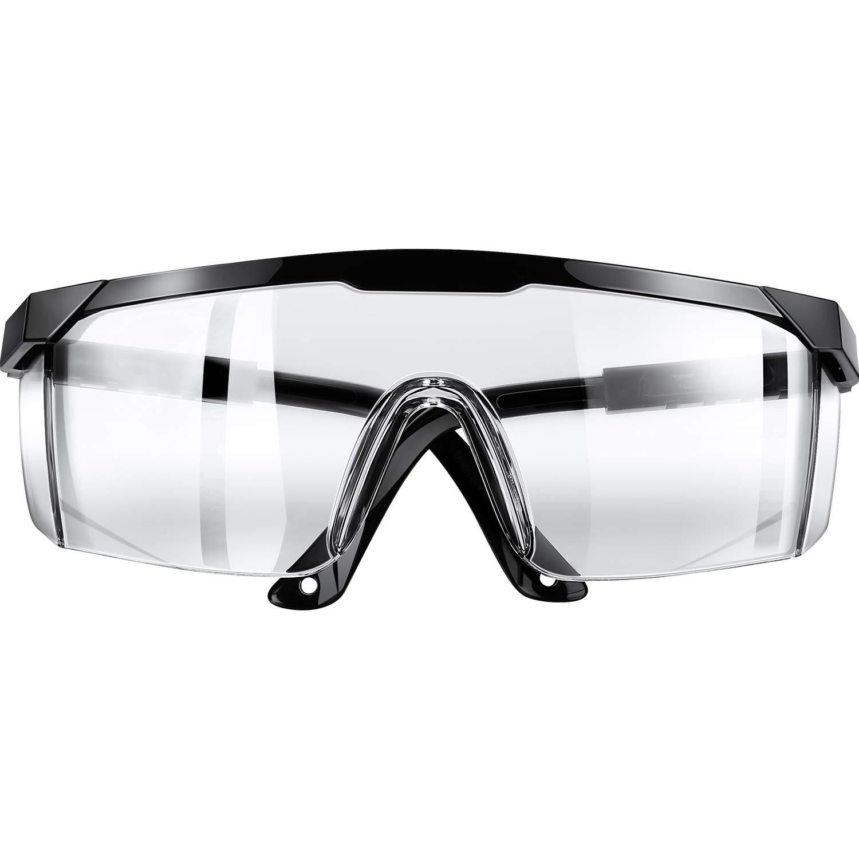 Gafas Protectoras Gafas Protectoras de Seguridad, Gafas Transparentes Anti-Vaho Anti-Arañazos Químicas Seguridad Contra Salpicaduras, Gafas Protectoras de Ojos para Laboratorio (Regular)