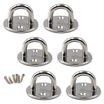 Schrauben enthalten M10 Augplatte 304 Edelstahl Haken Wandmontage Haken Packung mit 2