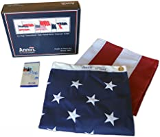 Annin Flagmakers Model 2730 American Flag 5x8 ft. Tough-Tex the Strongest, Longest Lasting Flag , 100% Made in USA with Sewn Stripes, Embroidered Stars and Brass Grommets.