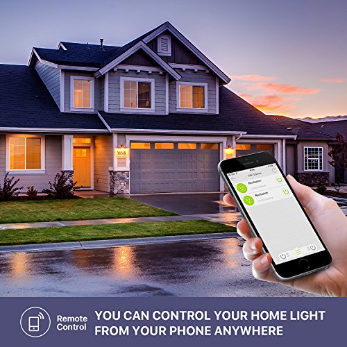 WiFi Smart Light Switch Work Alexa Echo, Smartphone Remote Control Wireless Switch from Ankuoo, No Hub Required,Timer, Automatic APP Control, for Home/Office/Living Room by Ominihome (Image #5)