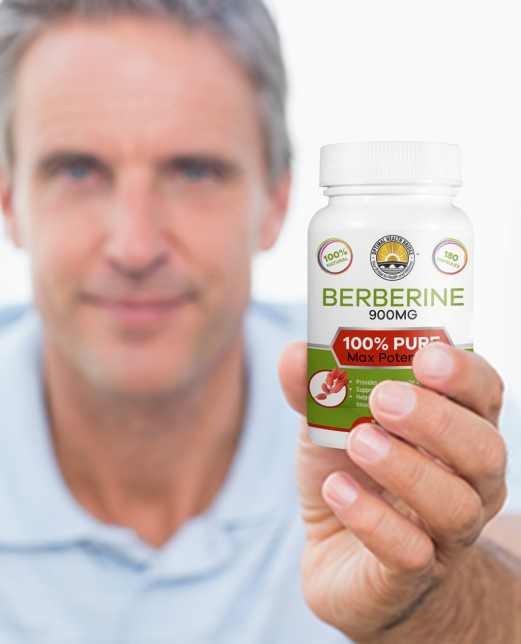 180 Capsules Pure Berberine Proper Dosage 3X - Bio Active Wonder - Crazy Effective! New Product Launch Pricing!