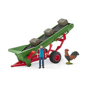 Spielset Heuförderband mit BauerSchleich 42377Bauernhof Spielzeug ab 3 J. Bauernhof