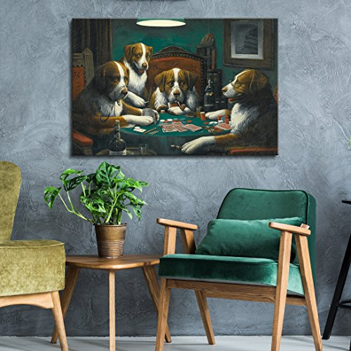 Dogs Playing Poker Series Poker Game Painting by C M Coolidge