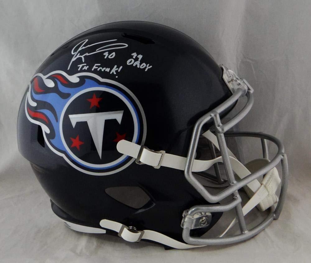 Amazon.com  Jevon Kearse Autographed Tenn Titans Full Size Speed Helmet 2  Insc- Beckett Authentic  Sports Collectibles 0edf9c66e