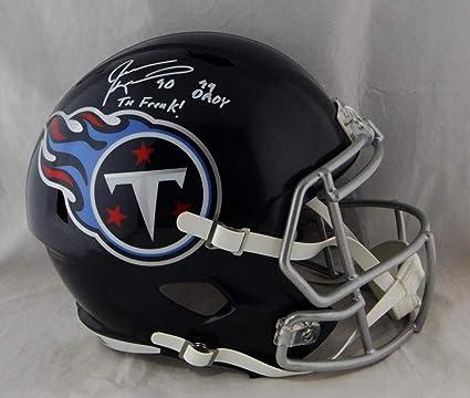 Jevon Kearse Autographed Tenn Titans Full Size Speed Helmet 2 Insc- Beckett  Authentic 5f40ac5e7