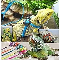 NT_Big Adjustable Reptile Lizard Harness Leash Adjustable Multicolor Light Soft Fashion