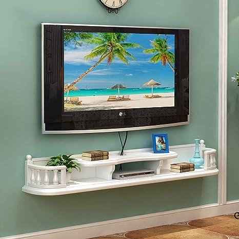TV Rack Mueble de Televisión Montado en la Pared Dormitorio Sala de Estar Estante de Pared, Blanco: Amazon.es: Deportes y aire libre