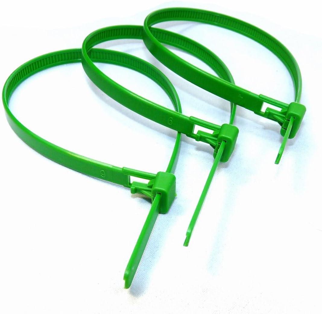 Alta calidad fuerte nylon Zip Ties 10 unidades de alta resistencia plata reutilizables Bridas 300 mm x 7,2 mm