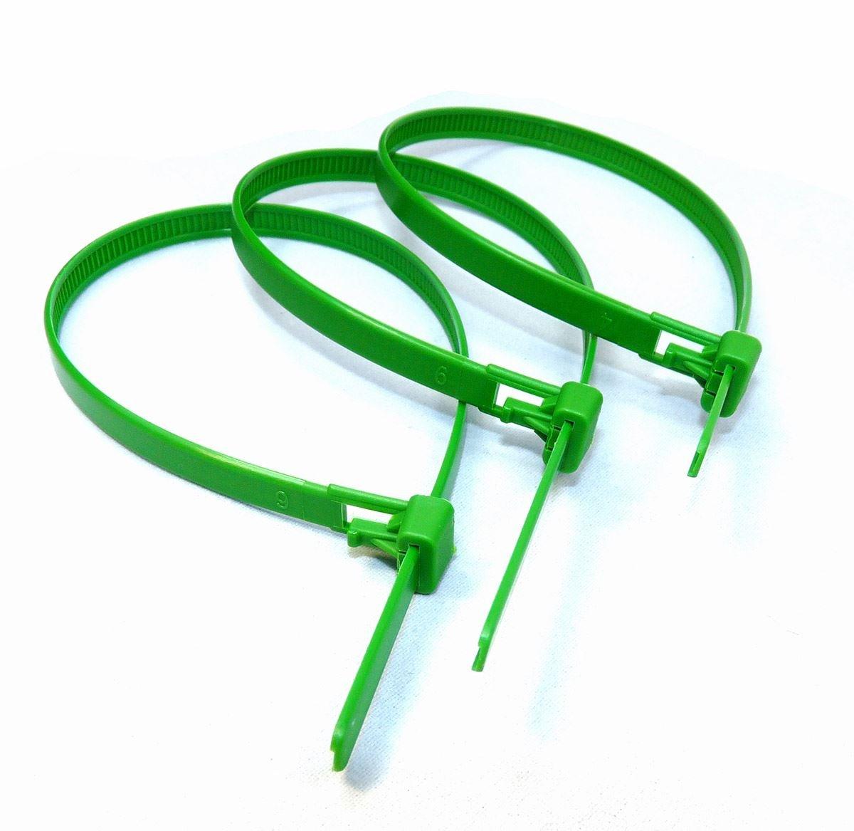 naturel vert relasaable r/Èutilisable C/'ble Attache 10/†pi/Ëces Noir