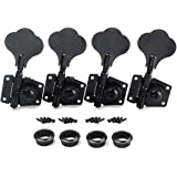 Guyker 4Pcs Bass Machine Heads (4 for Right) – Open Tuning Key Pegs Tuners Replacement for Electric Jazz Bass or…