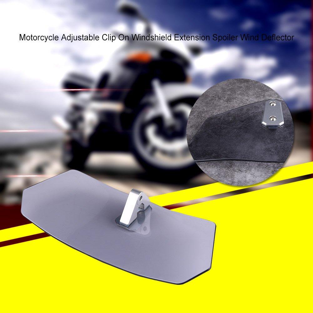 Moto Parabrezza deflettore Parabrezza Regolabile Universale per Kawasaki Honda KTM Qiilu Moto Parabrezza deflettori