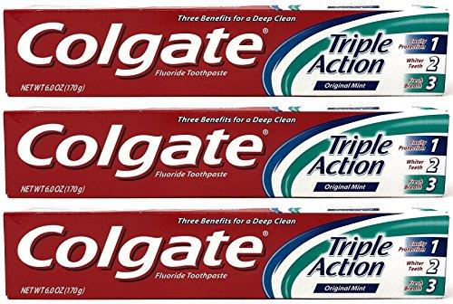 Colgate Triple Action 6 Oz (Pack of 3)