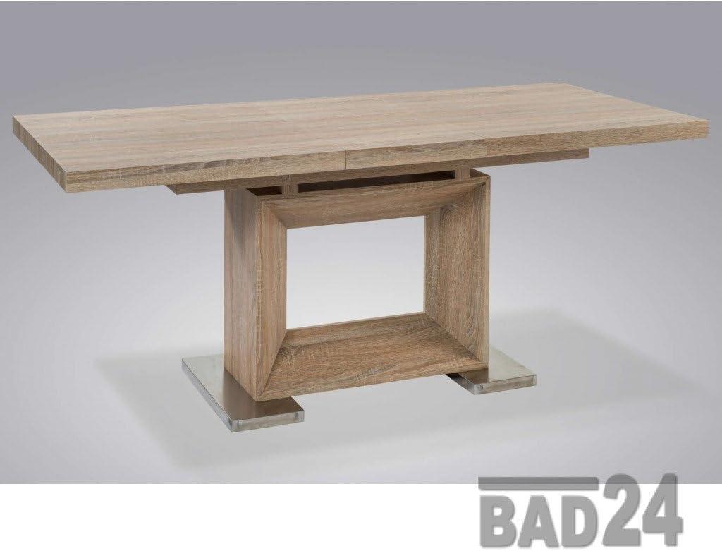 Mesa de comedor Biba roble Sonoma 140 - 180 x 80 x 76 cm ...